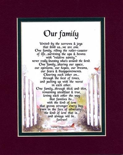 Ein Gedicht über Familie, 205, A Mother 's Day Oder Geburtstag Geschenk für Mutter Mom