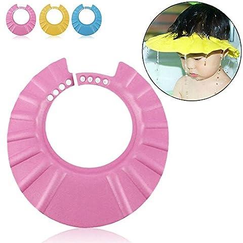 SAFE Shampoo Dusche Baden Schutz Soft Cap Mütze für Kleinkinder, Baby, Kinder & Kinder, Halten Das Wasser aus Ihre Augen & Gesicht (Pink)