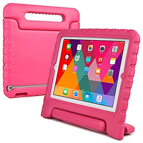 Cooper Cases(TM) Dynamo iPad 2/3/4 Kids Case in Pink + Free Screen Protector (Lightweight, Shock-Absorbing, Child-Safe EVA Foam, Built-in Handle and Viewing Stand)