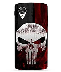 Snazzy Skull Printed Black Hard Back Cover For LG Google Nexus 5X