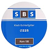 SBS® Klett Schleifgitter für Langhalsschleifer 25 Stück Ø225 mm Korn 180 SB433.5