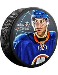 Sher-Wood Juan Tavares Nueva York Islanders Star Player NHL Puck