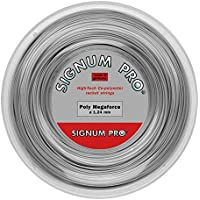Signum Pro Poly Megaforce 200M Silber Tennis Saitenrolle 200m Monofil Silber 1,34