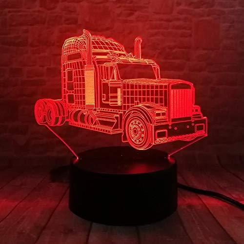 3D Lampen Lamp Oldtimer Retro , 7 Farben , Touch/Fernbedienung Schalter , Geburtstagsgeschenk Babylicht , Acrylflach- & USB-Kabel & AA-Batterie -