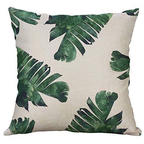 Dicomi Dekorativer Kissenbezug (40 x 40 cm) Medizinischer Sofa Auto Kissenbezüge Blume Drucken Für Dekokissen 100% Baumwolle und Leinen -