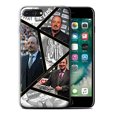 Officiel Newcastle United FC Coque / Etui Gel TPU pour Apple iPhone 7 Plus / Maestro Espagnol Design / NUFC Rafa Benítez Collection Montage