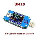 UM25 couleur LCD testeur d'affichage, 1,44 pouces 5A USB 2.0 Type-C, Voltage Current Meter Voltmètre Ampèremètre Charge de la batterie, Mesurer la résistance du câble, Mesure de l'impédance de charge, DIY Background Settings Innovateking-EU (UM25)