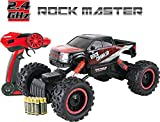 Large Remote Control Car For Kids (32 Centimetres Long) - Rock Crawler 4x4 RC Car (All Batteries Included) - 1/14 Rock Master Rock Crawler with 2.4Ghz Controller by ThinkGizmos (Trademark Protected) (Red)