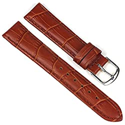 Eulit Guinea Replacement Band Watch Band Leather Kalf Strap Goldbrown 8007_23S, Abutting:12 mm