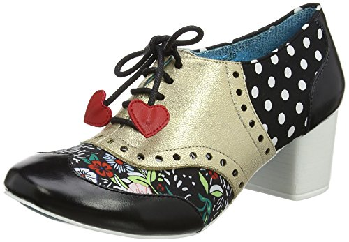 Poetic Licence by Irregular Choice Damen Clara Bow Brogues, Gold (Black/Gold M), 40 EU