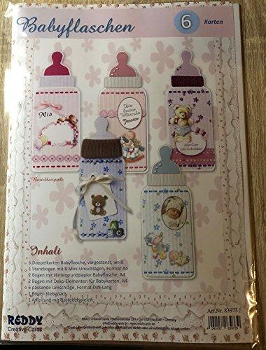 3-D Bastelmappe Babyflaschen-Karten