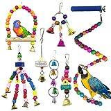 Juguetes para Pájaros, PietyPet 8 Piezas Pájaros Juguetes con...