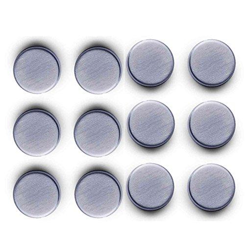 SIDCO ® 12 Stk Edelstahl Pinnwandmagnete Kühlschrankmagnete Flip Chart Magnet extrastark
