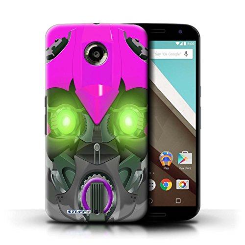 Kobalt® Imprimé Etui / Coque pour Motorola Nexus 6 / Opta-Bot Vert conception / Série Robots Bumble-Bot Violet
