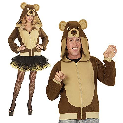 WIDMANN - Kapuzenjacke Bär für Erwachsene (Für Halloween Bär Erwachsene Kostüm)