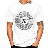 Gusspower Blusa de los Hombres, Camiseta de la Impresión'兀' de la Moda Camisetas de...