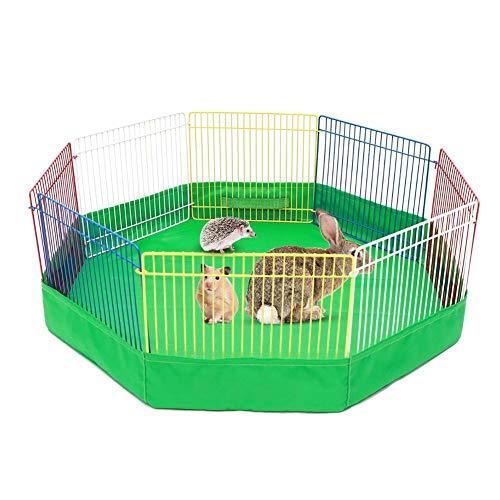 Jaula para cercas de mascotas pequeñas 8 PCS Portacontenedores de alambre de metal portátiles pequeños animales Tienda para interiores / exteriores Jaula de parqueo para conejos Hámster Erizo Cobaya