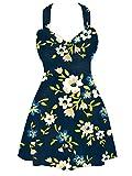 Sommer Mae Damen Badekleid Plus Size Badeanzug Einteile Bademode Drucken