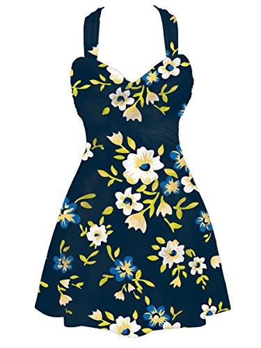 Sommer Mae Damen Badekleid Plus Size Badeanzug Einteile Bademode Drucken Monokini