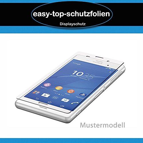 BlackBerry Priv - 3x easy-top Anti-Shock Bildschirmschutzfolie - kristallklare Bildschirm Schutz Folie Schutzfolie