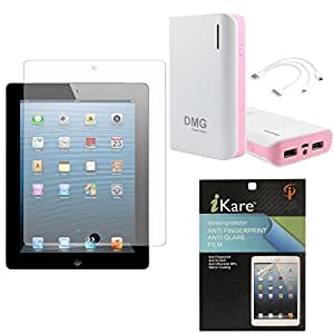 iKare Pack of 2 Anti-Glare Anti-Scratch Anti-Fingerprint Matte Screen Protector for Apple iPad Air 2 + iKare 10200 mAh Portable Power Bank