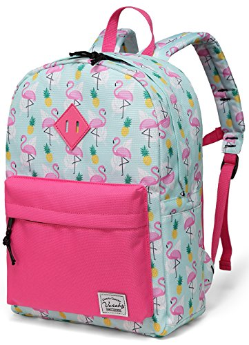 Kinder Schultasche, Flamingos Rucksack für Mädchen Kleinkind Rucksack Niedlicher Vorschul Rucksack mit Seitentaschen (Niedlich Kleinkind, Home|,)
