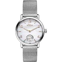 s.Oliver Damen-Armbanduhr Analog Quarz Edelstahl SO-3078-MQ