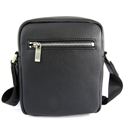 Bolso de cuero 'Ted Lapidus'negro (19x21x5.5 cm).