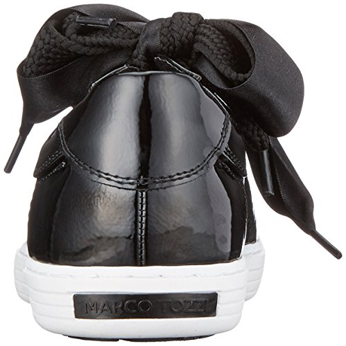 Marco Tozzi 23601, Scarpe da Ginnastica Basse Donna Nero (Black Patent)