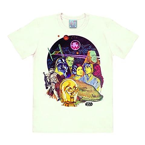 Star Wars - Helden - Zeichnung T-Shirt Herren - altweiß