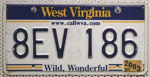 US Nummernschild WEST VIRGINIA Kennzeichen # USA License Plate # Autoschild