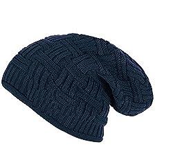 Zacharias Dark Blue Inner Fur Warm beanie for men