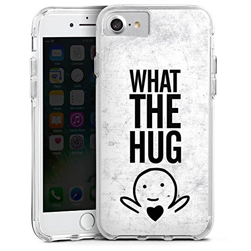 Apple iPhone 8 Bumper Hülle Bumper Case Glitzer Hülle Amour Love Liebe Bumper Case transparent