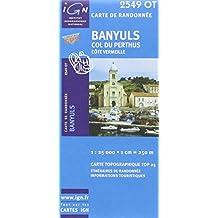 Banyuls Col du Perthus Côte vermeille. 1/25 000