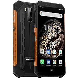 Ulefone Armor X5 4G Télephone Portable Incassable Debloqué, MTK6763 Octa-Core 3Go de RAM 32Go de ROM, IP68 Smartphone Résistant Etanche Antichoc Android 9.0, Dual SIM, Batterie 5000 mAh, NFC Orange