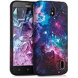 kwmobile Funda para Huawei Y625 - Case para móvil en TPU silicona - Cover trasero Diseño Espacio en multicolor rosa fucsia negro