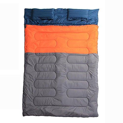 MIAO Draußen Camping Reise Paar Doppelte Baumwoll Schlafsack , (Fuß Und Mit Onesies Haube)