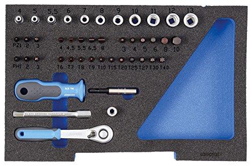 GEDORE 1100 CT1-20 Steckschlüssel-Satz 1/4″ in 1/2 L-BOXX 136 Modul