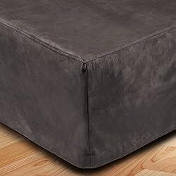 MADURA Montana- Cubre canapé, poliéster, gris oscuro, 140 x 200 cm