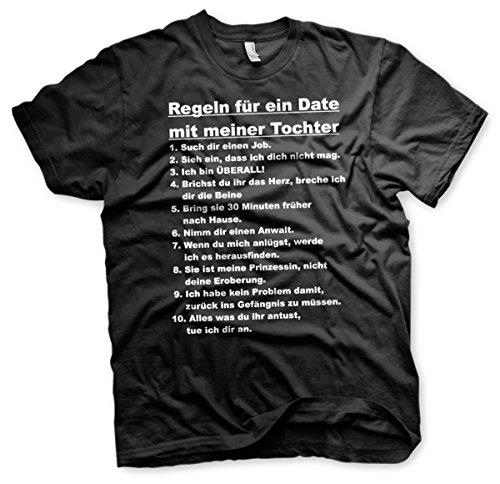 Regeln für ein Date mit meiner Tochter - Tshirt Schwarz