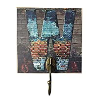 Panda Legends Creative Retro Style Wall Hooks Wood Material W-shaped Key Hook
