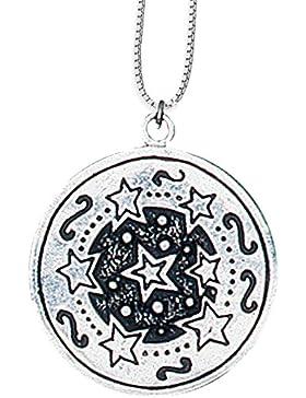 Twr Tewdws Anhänger Keltisches Sternzeichen (1. Apr - 23. Apr) 925er Silber Schmuck Amulett Geist mit Kette Halskette...