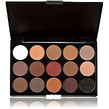 Anself Sombra de ojos de 15 colores desnudos neutros y cálidos Pro paleta para ojos de maquillaje cosmético
