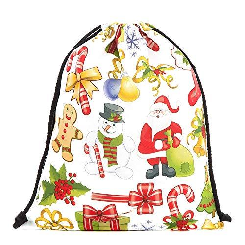 DaDago Weihnachts-Rucksack Schultertaschen Schubstrasen-Tasche Für Frauen Bag - #01