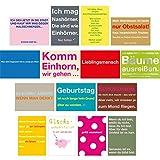 Cityproducts Postkartenset 1 - 15 verschiedene Sprüchepostkarten A6 (148 x 105 mm)