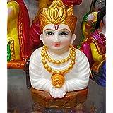 Kuber Ji Murti Marble Idol, Kuber Ji Statue for Pooja 5 inch