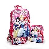 Kuresh Toy 6 Wheel Expandable Zip School Plastic Trolley Bag for Kids (Pink)