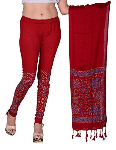 Snija Fashion Bandhani Printed Leggings with Dupatta for women ladies girls