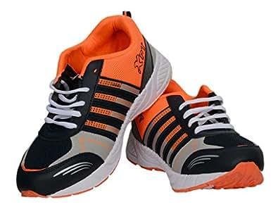 RUDOSE Men's Orange Black Sports & Casual Shoes-6
