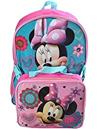 "Disney Minnie Mouse 16"" Large Backpack With Detachable Lunch Kit"